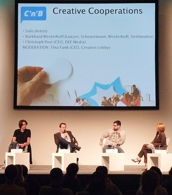Panel mit Sido, c/o pop 2010, Köln © Thorsten Kampa, Lauschsofa